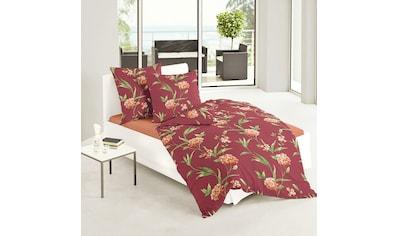 TRAUMSCHLAF Bettwäsche »Fleur rot«, Winterbettwäsche in warmer Qualität kaufen