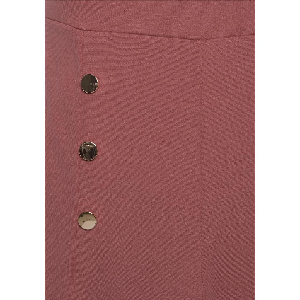 LASCANA Jerseyhose, mit Zierknöpfen