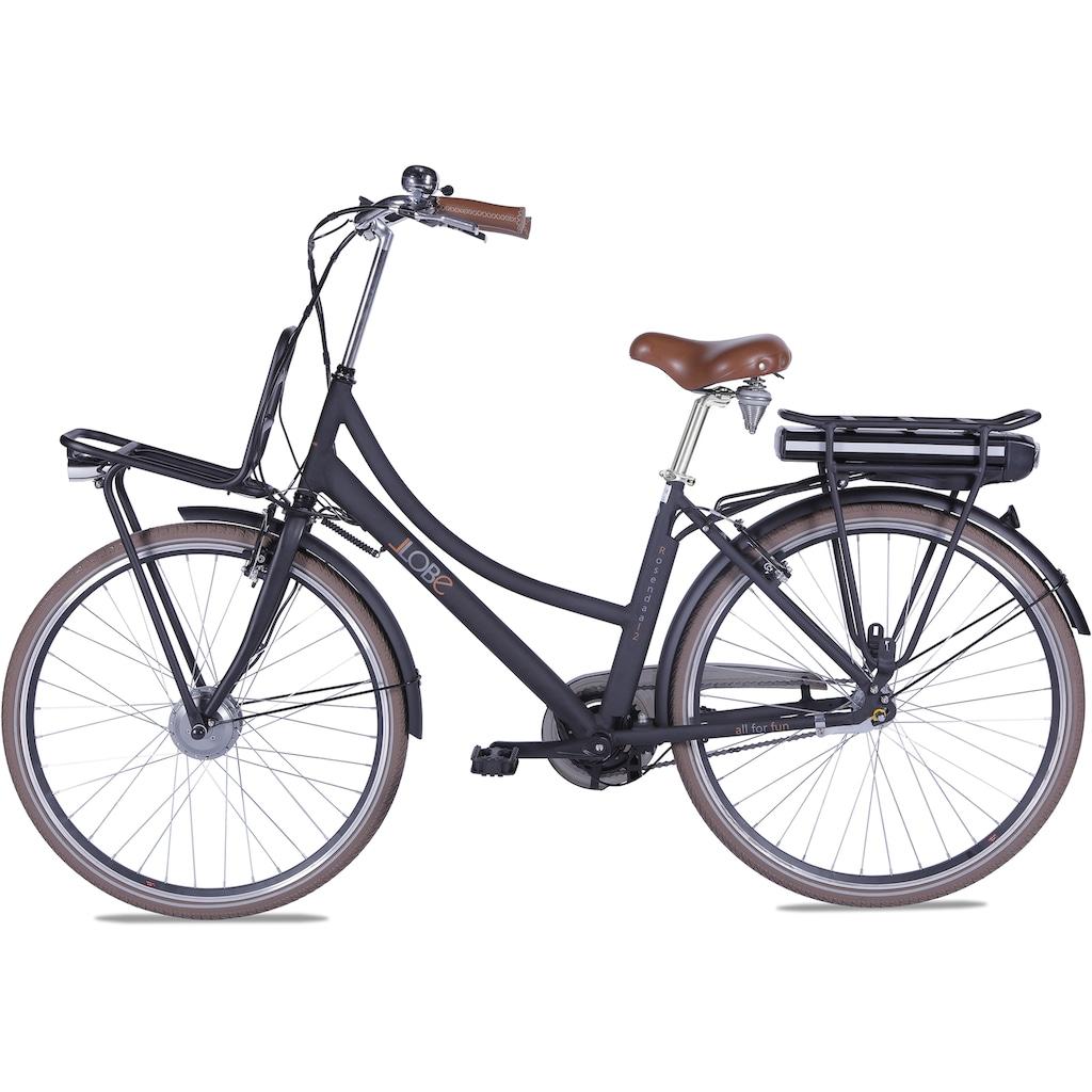 LLobe E-Bike »Rosendaal Lady 13,2 Ah«, Gepäckträger vorne