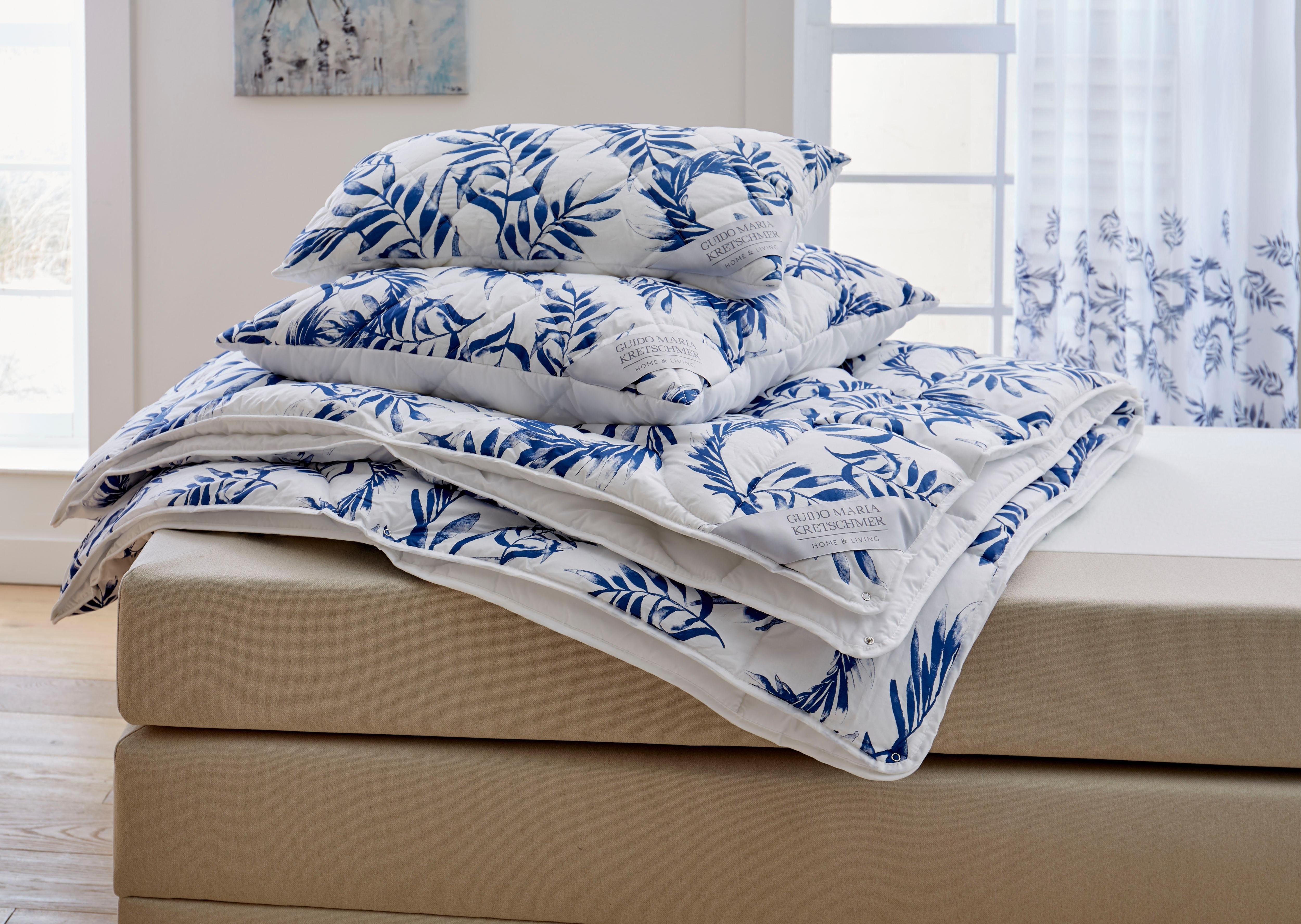 4-JahreszeitenbettBlue leavesGuido Maria Kretschmer Home&Living 4-Jahreszeiten | 04019793387386