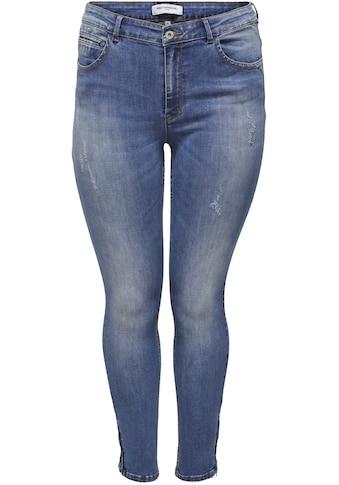 ONLY CARMAKOMA Skinny-fit-Jeans, mit Reißverschluss am Beinabschluss kaufen