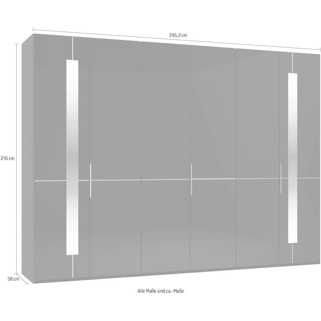 GALLERY M Drehtürenschrank »Imola W«, inkl. Einlegeböden und Kleiderstangen, mit Glastüren inklusive Zierspiegel, in zwei Höhen