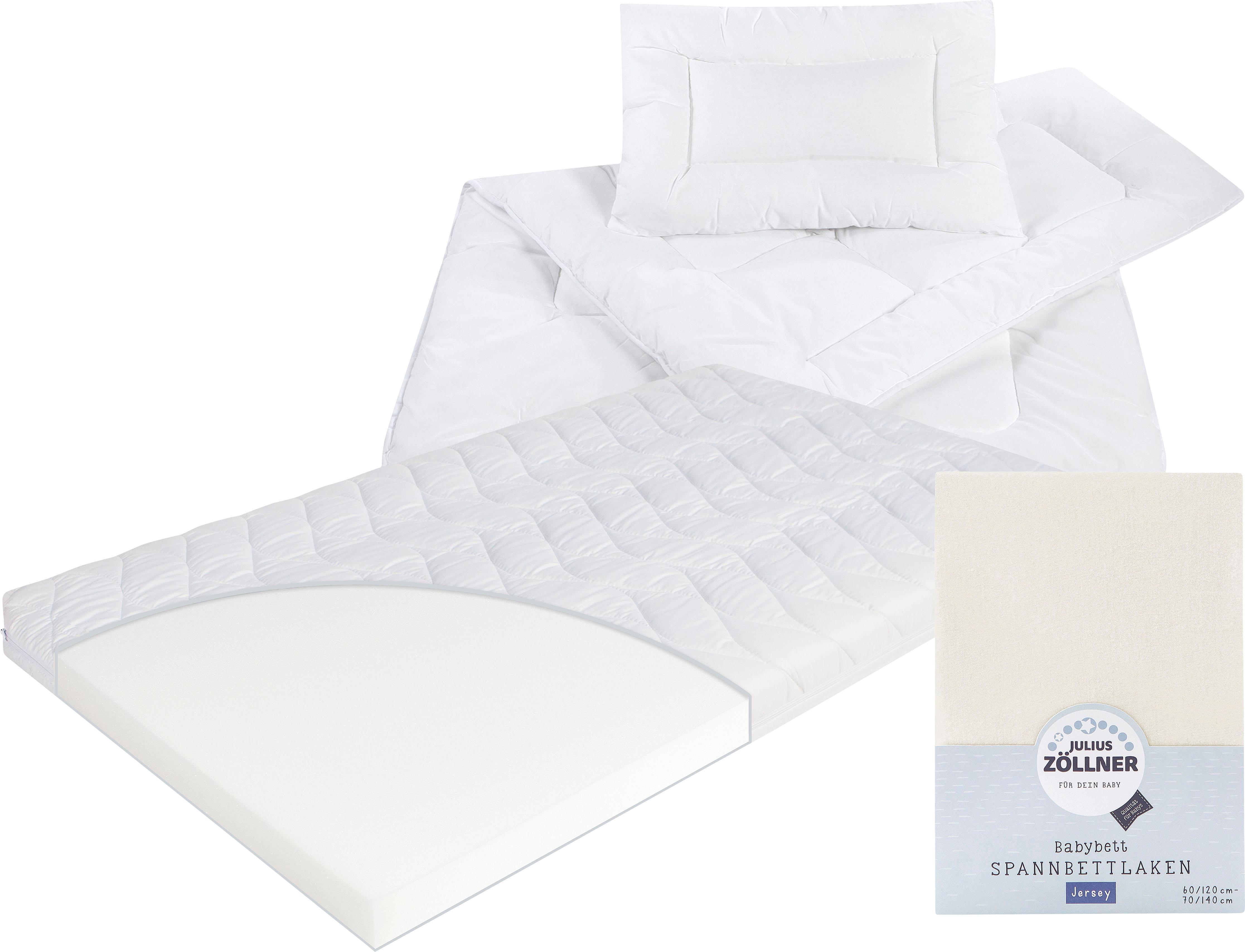 Matratze Decken Spannbetttuch Kombi Jan Zöllner Kindersteppbett | Kinderzimmer > Textilien für Kinder > Kinderbettwäsche | Weiß | Zöllner
