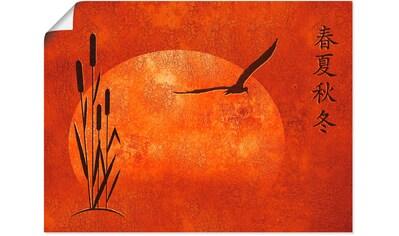 Artland Wandbild »Asiatische Jahreszeiten« kaufen