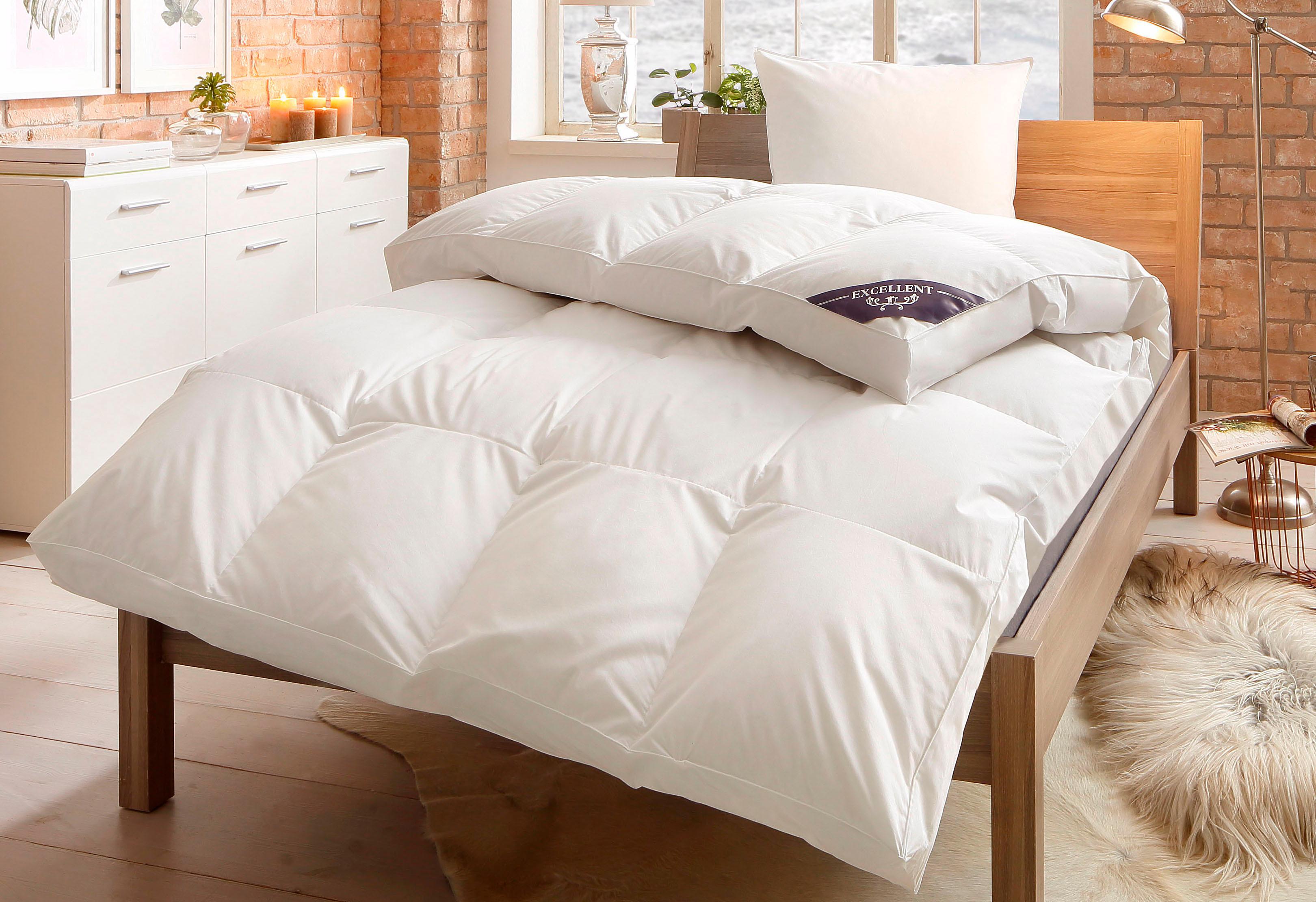Daunenbettdecke + Federkissen Komfort Excellent polarwarm