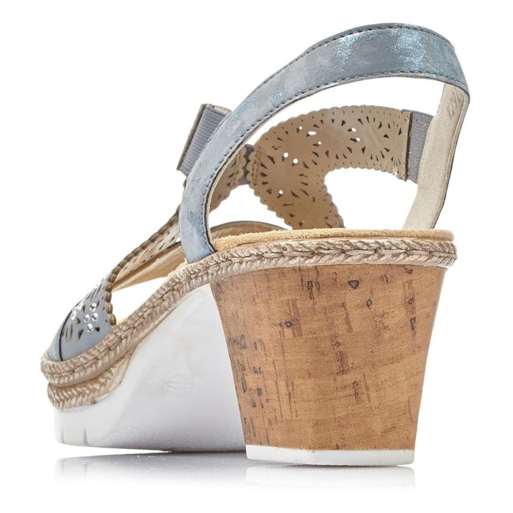 Rieker Sandalette, mit Perforation und Strass-Steine