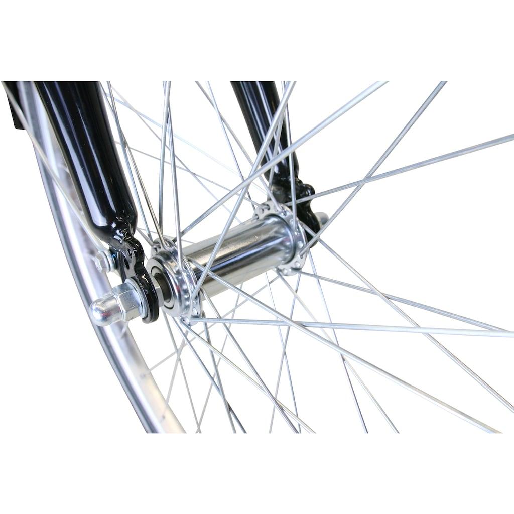 HAWK Bikes Cityrad »HAWK Citytrek Gent Premium Black«, 3 Gang, Shimano, Nexus Schaltwerk