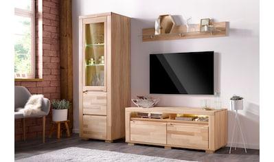 Woltra Wohnwand »Denis«, (Set, 3 St.), teilmassives Holz kaufen