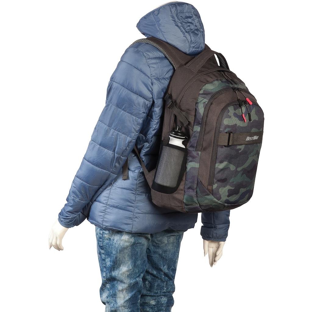 BESTWAY Laptoprucksack »Evolution Air, oliv«