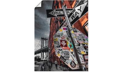 Artland Wandbild »New York Street Fotografie«, Amerika, (1 St.), in vielen Größen & Produktarten - Alubild / Outdoorbild für den Außenbereich, Leinwandbild, Poster, Wandaufkleber / Wandtattoo auch für Badezimmer geeignet kaufen