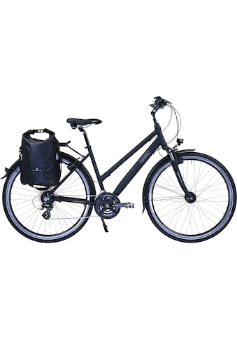 HAWK Bikes Trekkingrad »HAWK Trekking Lady Premium Plus Black«, 24 Gang, Shimano,... kaufen