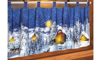 Delindo Lifestyle Scheibengardine »Weihnachtsdorf«, mit Schlaufenaufhängung, für die... kaufen