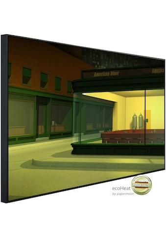 Papermoon Infrarotheizung »American Diner bei Nacht«, sehr angenehme Strahlungswärme kaufen