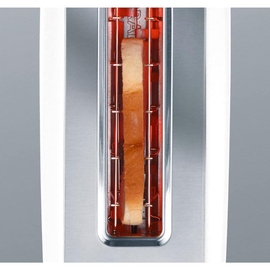 Graef Toaster »TO 91«, 1 langer Schlitz, 880 W, Langschlitztoaster, weiß