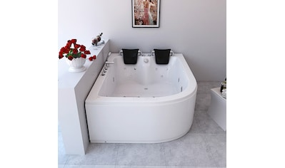 HOME DELUXE Whirlpool-Badewanne »Ancona XL«, B/T/H in cm: 180/120/65, links kaufen