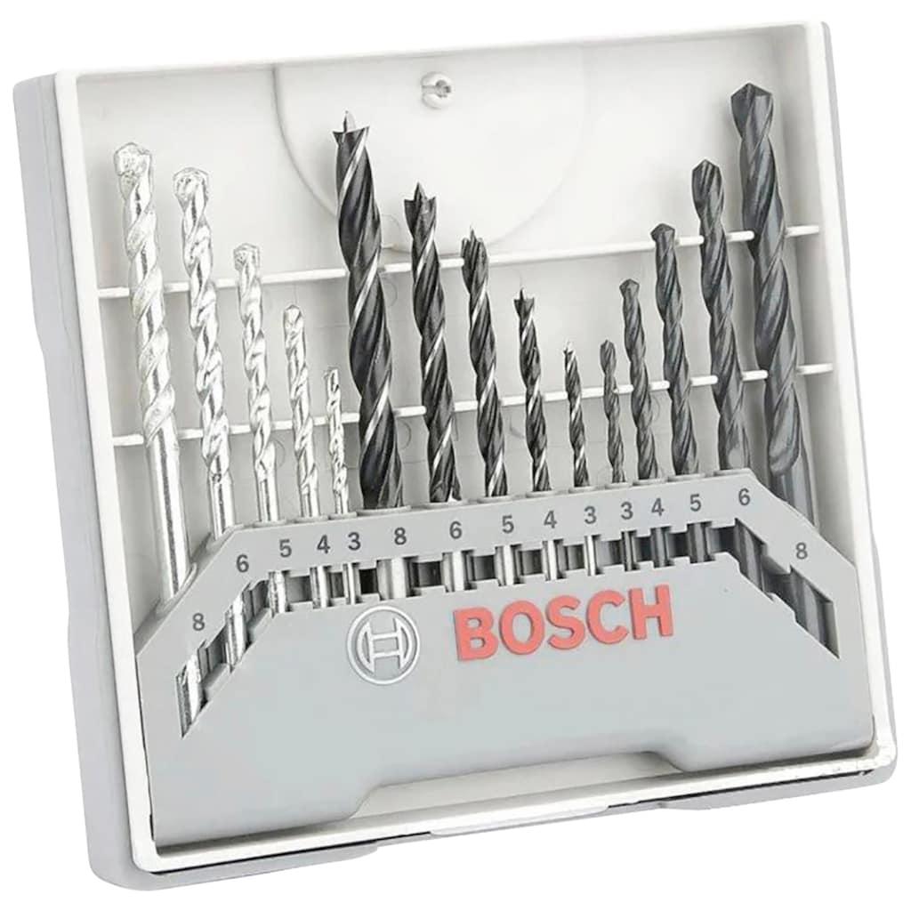 BOSCH Bohr-Meißel-Set »15tlg. Gemischtes Bohrer-Set«, (15 tlg.)