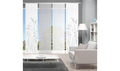 Vision Schiebegardine »GRASIL 4er SET«, Bambus-Optik, Digital bedruckt kaufen