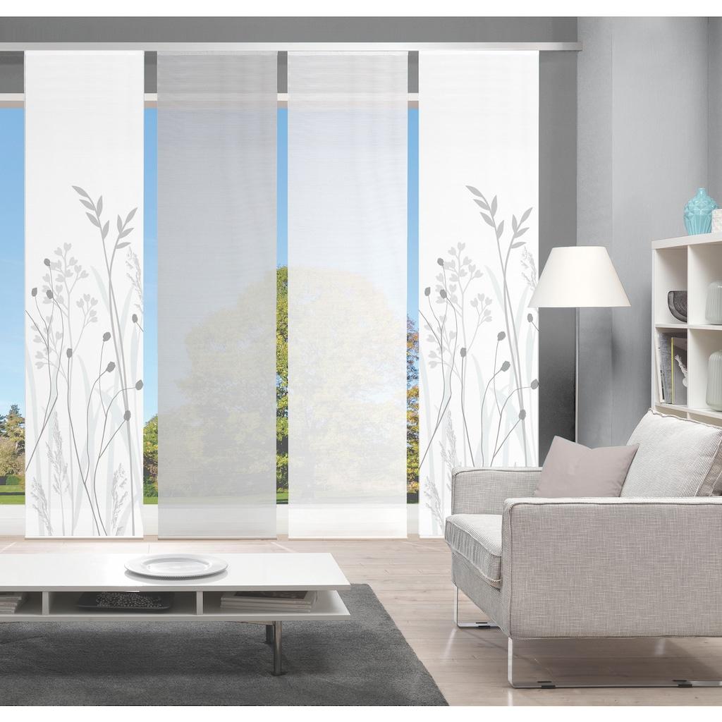 Vision Schiebegardine »GRASIL 4er SET«, Bambus-Optik, Digital bedruckt