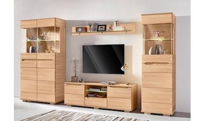 Wohnwand »Vetro«, (Set, 4 St.), teilmassives Holz kaufen