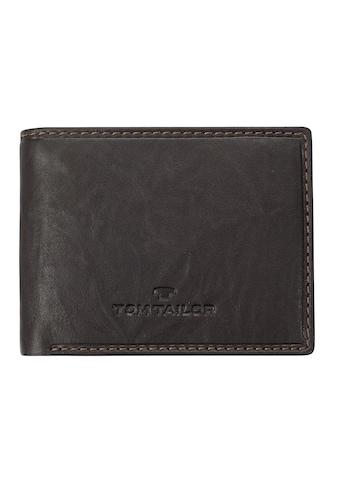 TOM TAILOR Geldbörse »LARY«, im Querformat aus echtem Leder kaufen