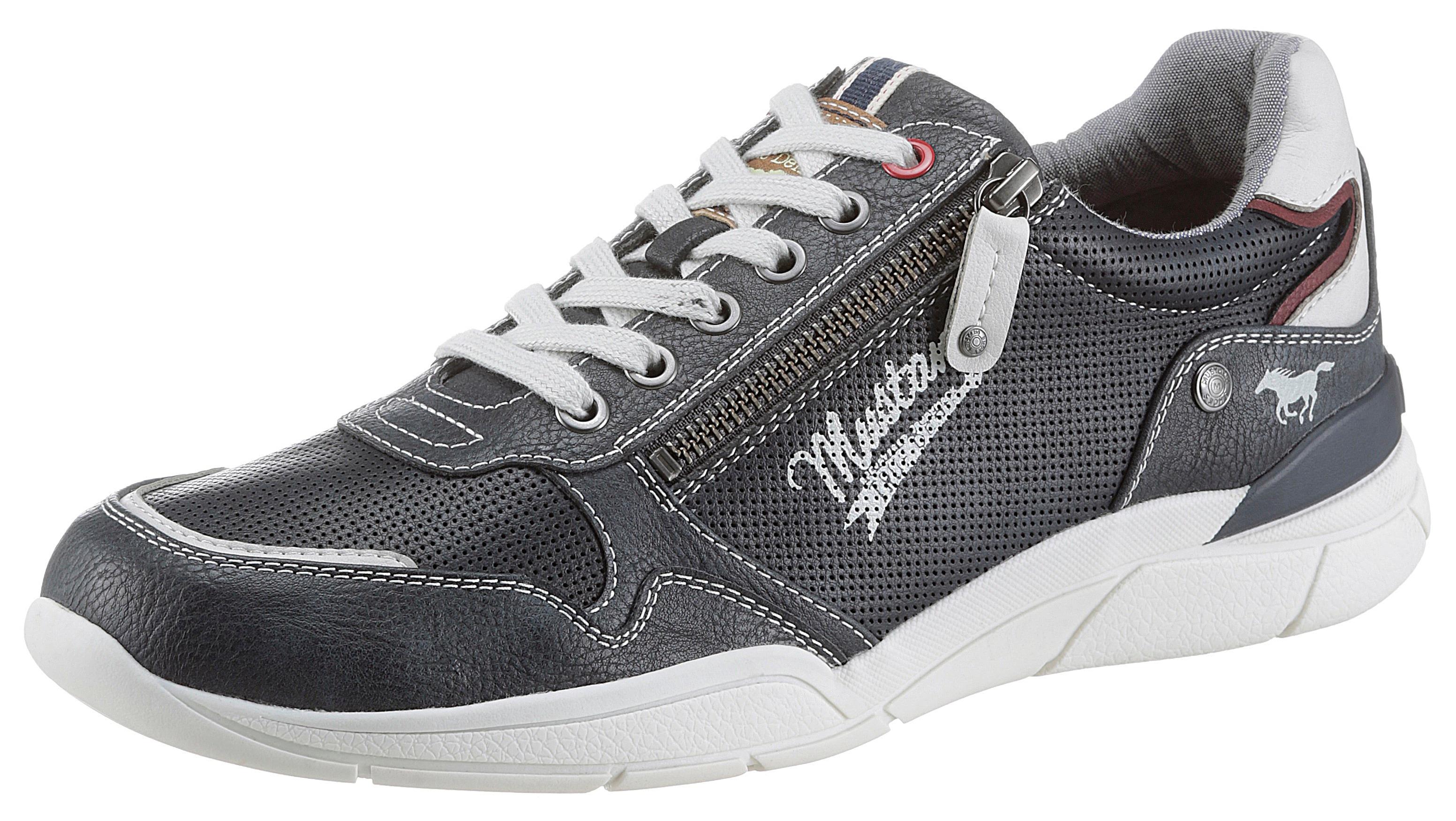 mustang shoes -  Schnürschuh, mit seitlichem Reißverschluss