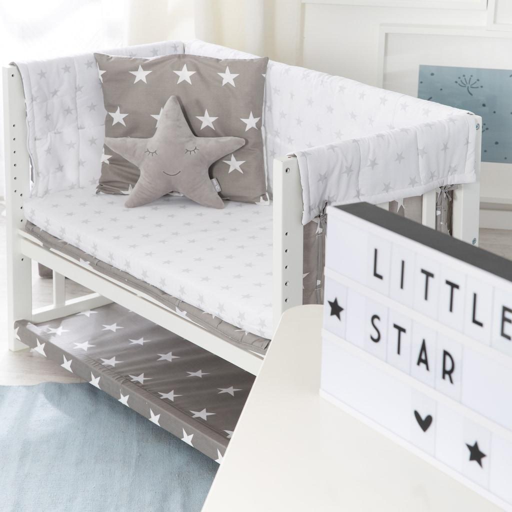 roba® Stubenbett »3in1, Little Stars, weiß«, zu Elternbett oder Bank umbaubar