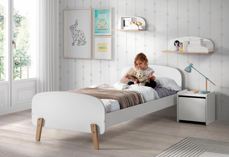 Vipack Kinderbett Kiddy weiß Kinder Kinderbetten Kindermöbel