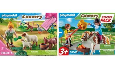 Playmobil® Konstruktions-Spielset »Reiterhof Ergänzungsset (70505) und Bäuerin mit... kaufen