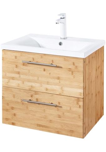 WELLTIME Waschtisch »Bambus New«, Waschplatz Set, 60 cm breit, 2 - tlg. kaufen