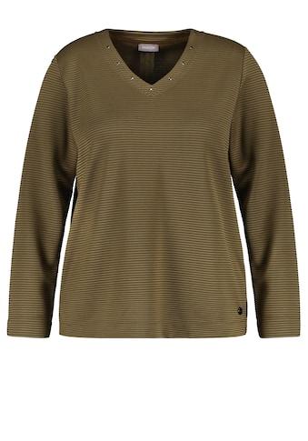 Samoon V - Shirt »V - Shirt aus Struktur - Jersey« kaufen