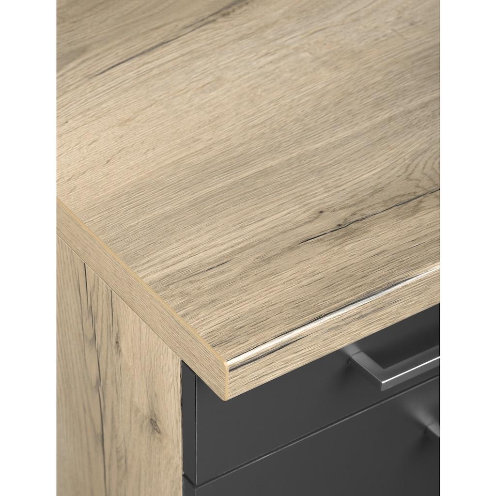 OPTIFIT Küchenzeile »Iver«, 210 cm breit, inkl. Elektrogeräte der Marke HANSEATIC, wahlweise mit oder ohne vollintegrierbaren Geschirrspüler