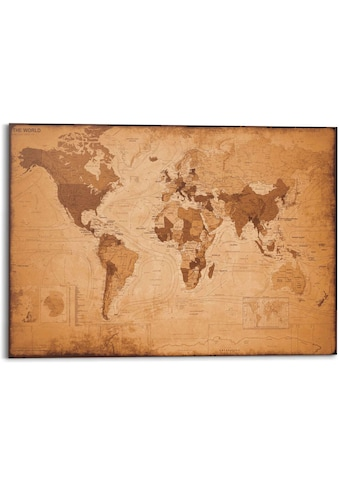 Reinders! Wandbild »Wandbild Weltkarte Vintage - Landkarte - Kontinente«, Weltkarte,... kaufen