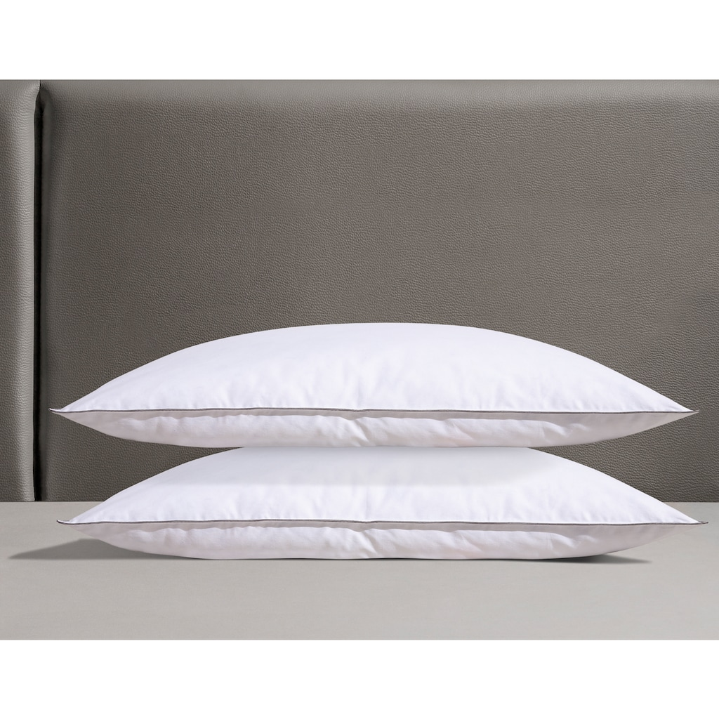 Älgdröm Federkopfkissen »Finja-Set«, Füllung: 90% Federn & 10% Daunen, Bezug: Baumwolle, (2 St.), mit skandinavischen Design!