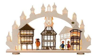 SAICO Original 3D - Lichterbogen Altstadt, 15flammig elektrisch beleuchtet kaufen
