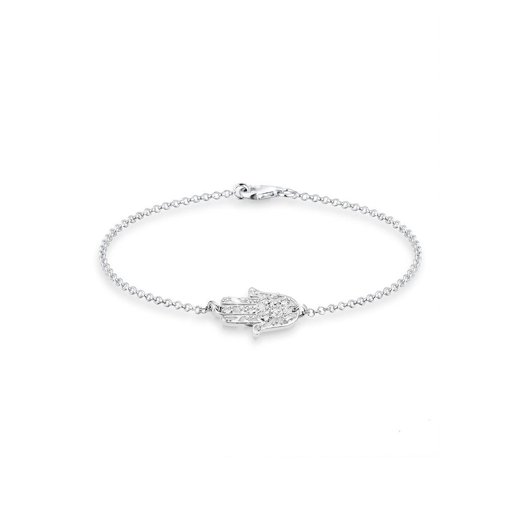 Elli Armband »Hamsa Hand Kristalle 925 Silber«