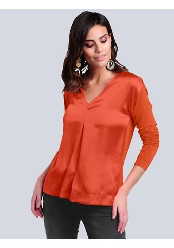Alba Moda Langarmshirt, im Materialmix kaufen