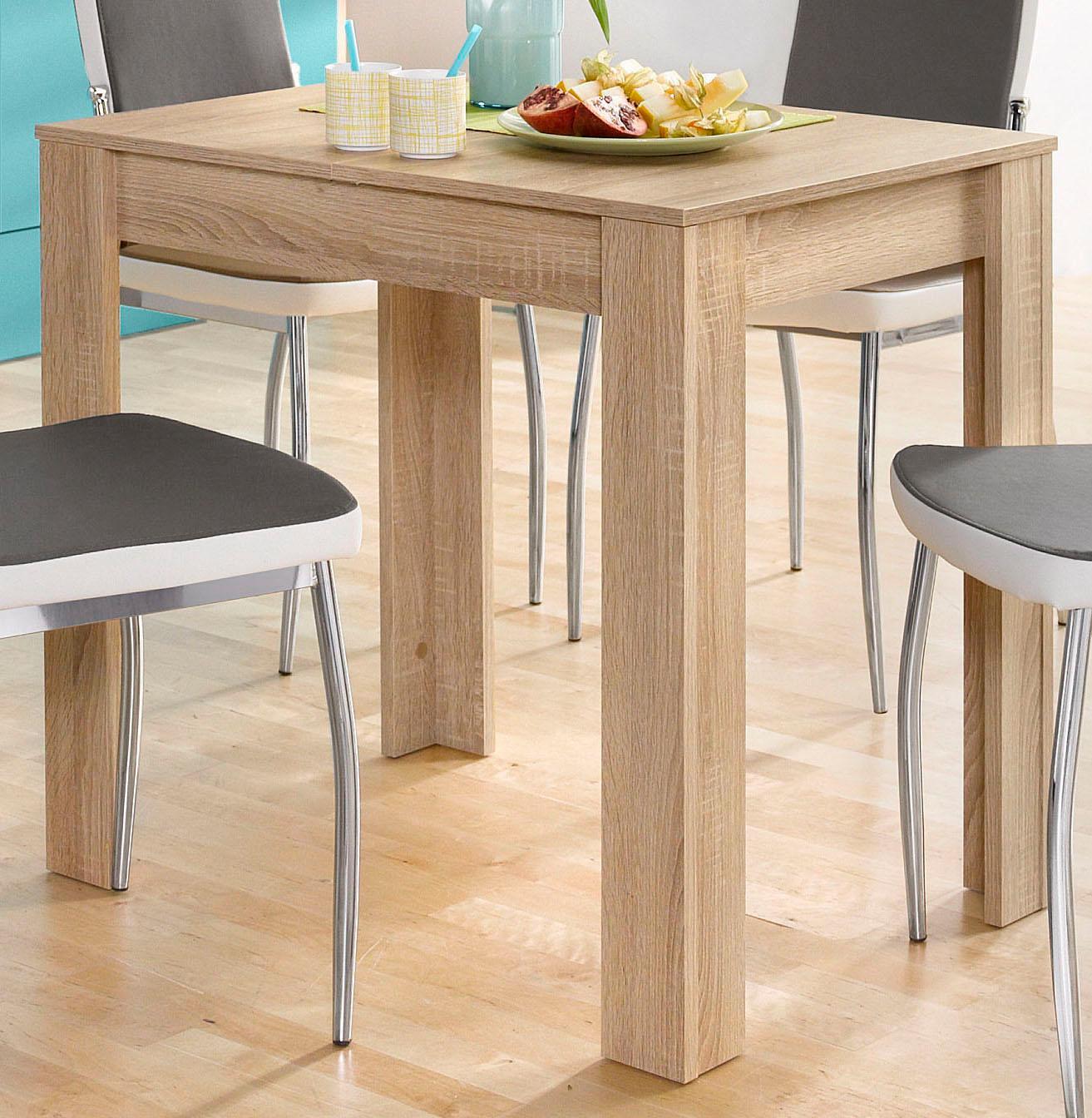 Mäusbacher Esstisch, Breite 80/110/120 cm mit Auszug braun Esstisch Esstische rechteckig Tische