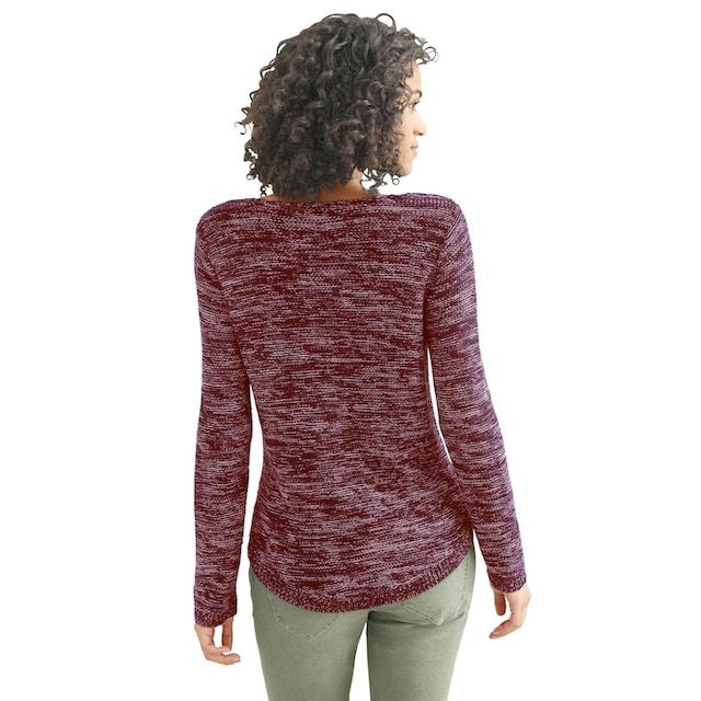Casual Looks Pullover, hinten länger geschnitten