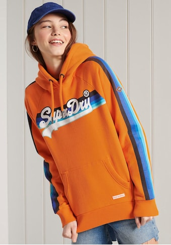 Superdry Kapuzensweatshirt »VL CALI RAGLAN HOOD«, mit seitlichen Gallonstreifen im Regenbogendesign kaufen