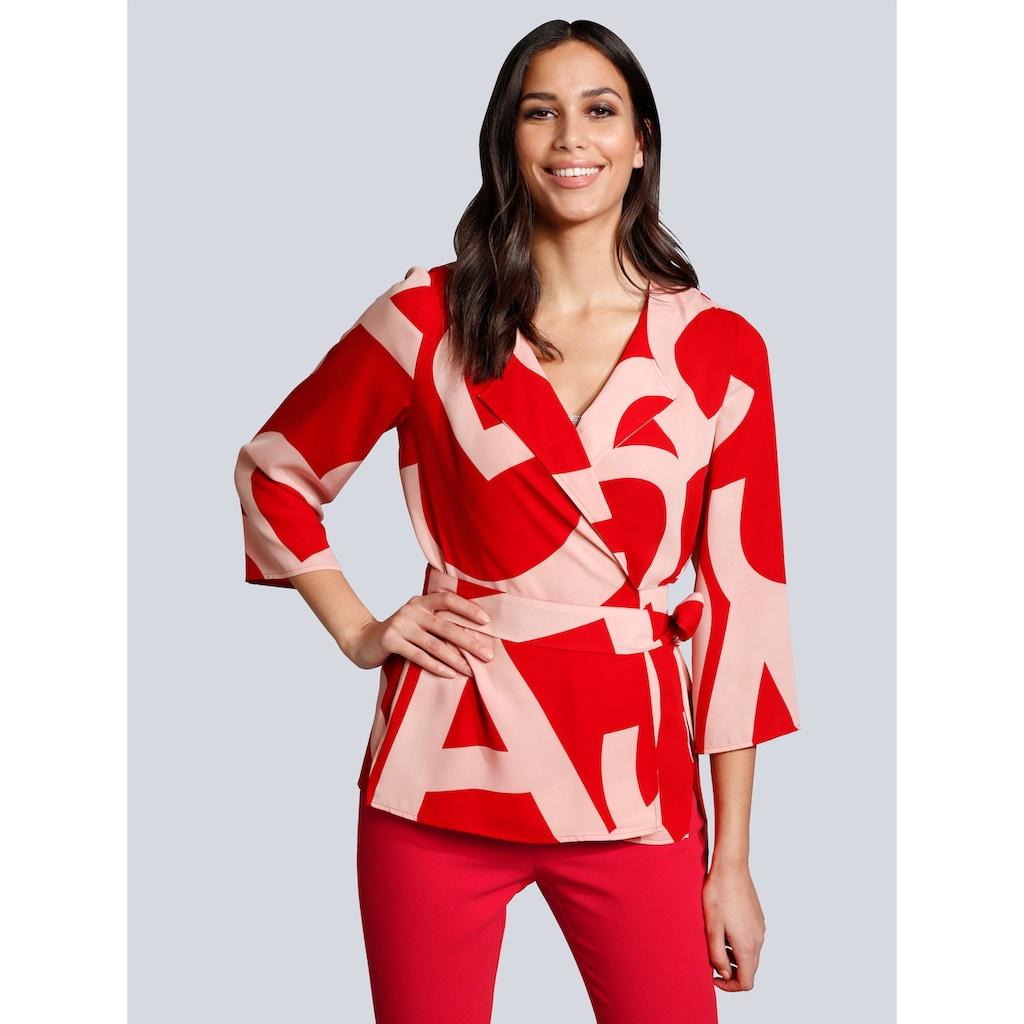 Alba Moda Druckbluse in modischem Colourblocking