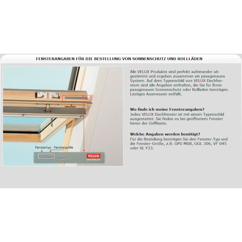 VELUX Dachfensterrollo »DKL«, verdunkelnd, beige