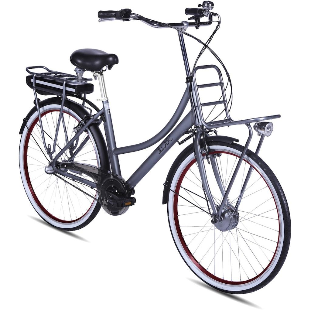 LLobe E-Bike »Rosendaal Lady 15,6 Ah«, Gepäckträger vorne