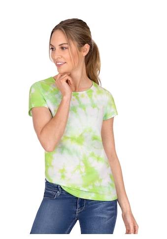 Trigema T - Shirt mit modischem Batik - Druck kaufen