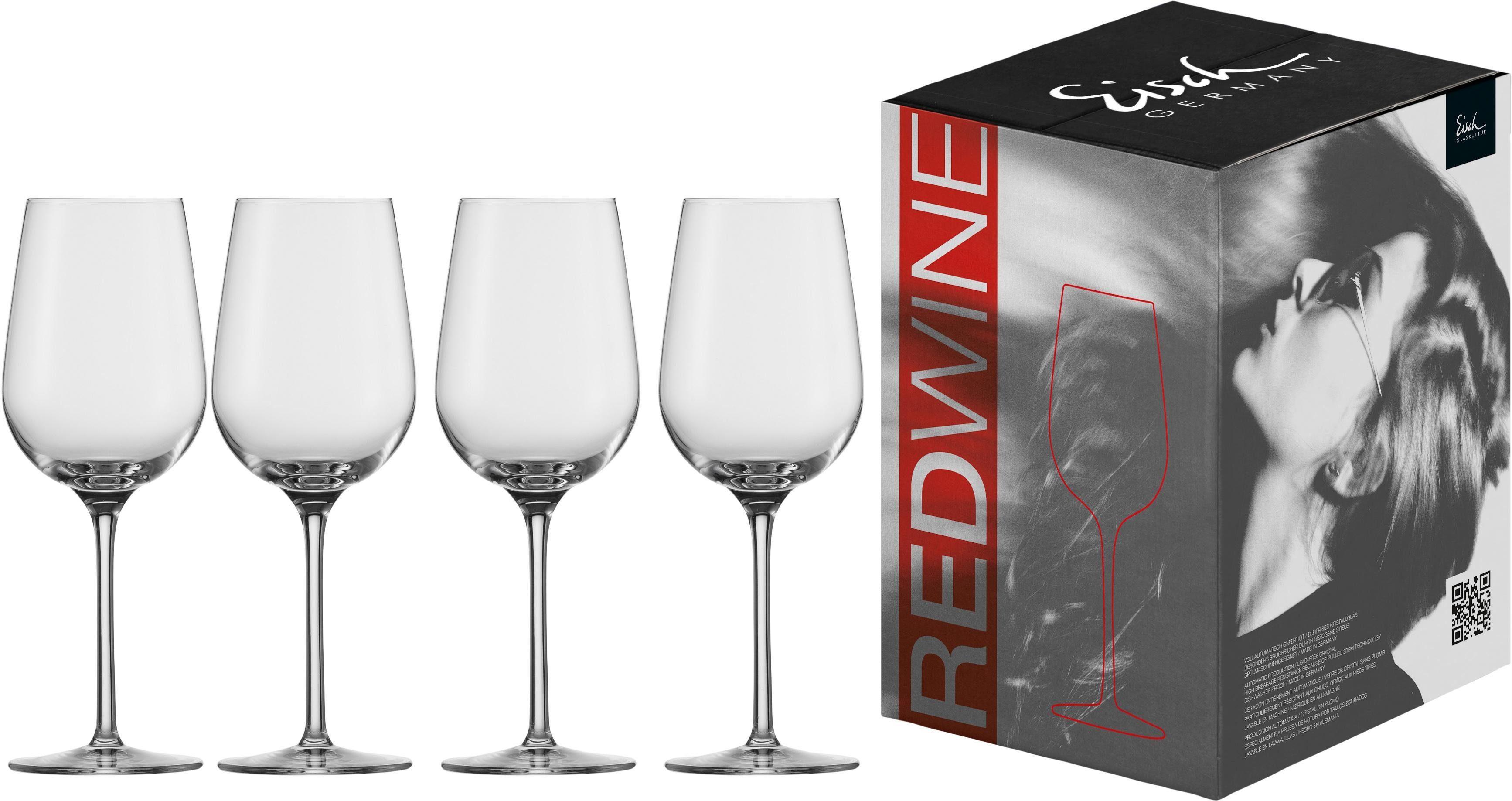 Eisch Rotweinglas Vinezza, (Set, 4 tlg.), bleifreies Kristallglas, 430 ml farblos Kristallgläser Gläser Glaswaren Haushaltswaren