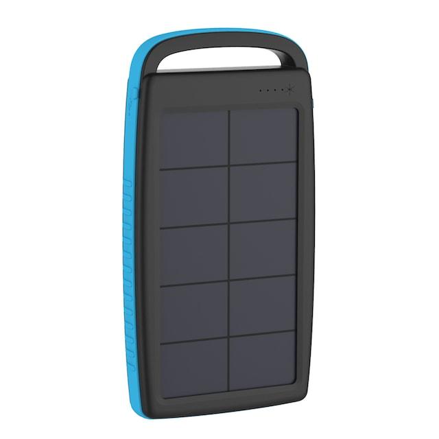 XLAYER Zusatzakku »Powerbank PLUS Solar Black/Blue 20000mAh Smartphon«