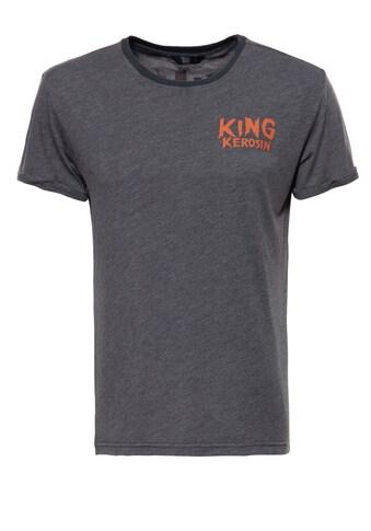 KingKerosin T-Shirt »King of Fucking«, mit Enzymwash-Effekt und Armaufschlag kaufen