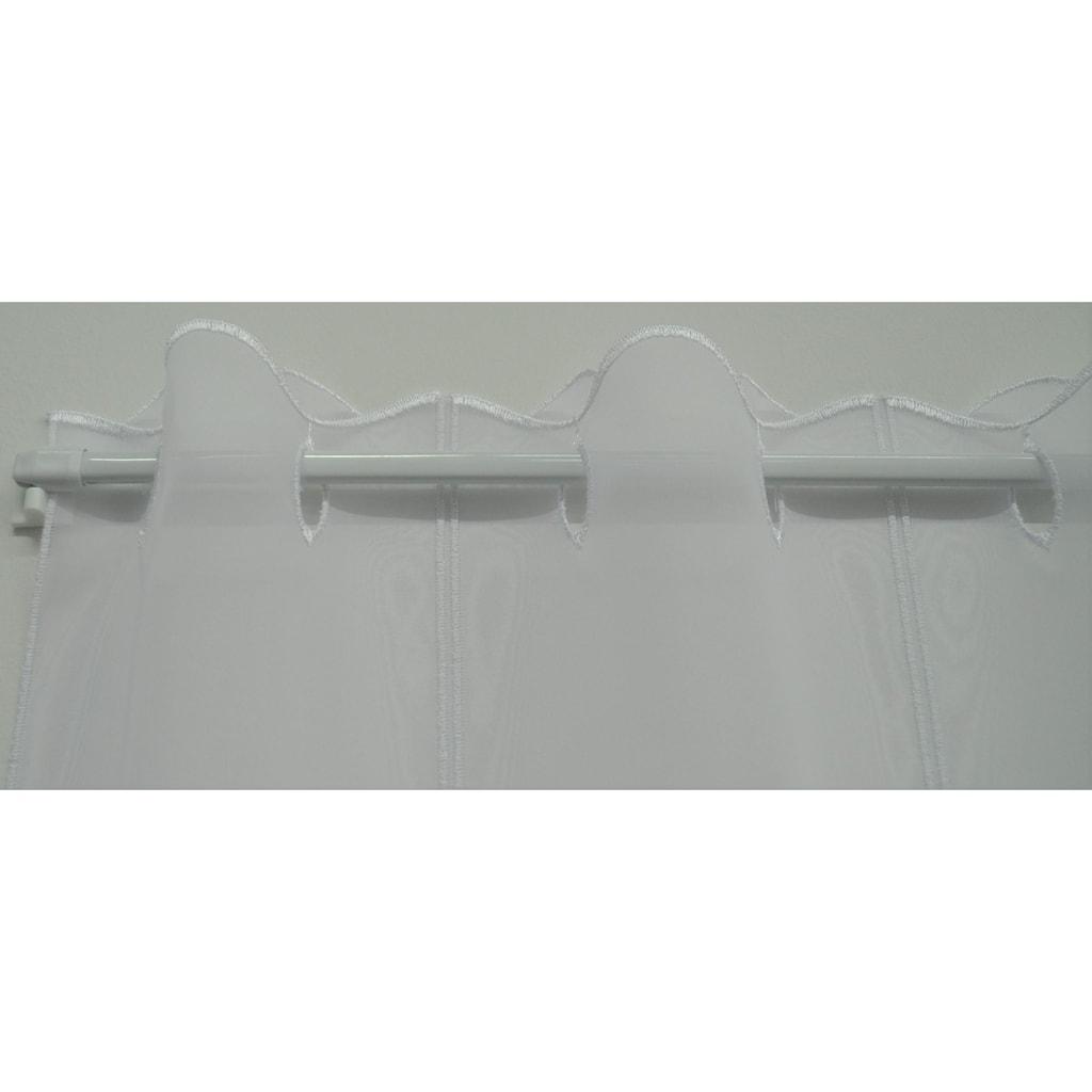 Stickereien Plauen Scheibengardine »Welle«