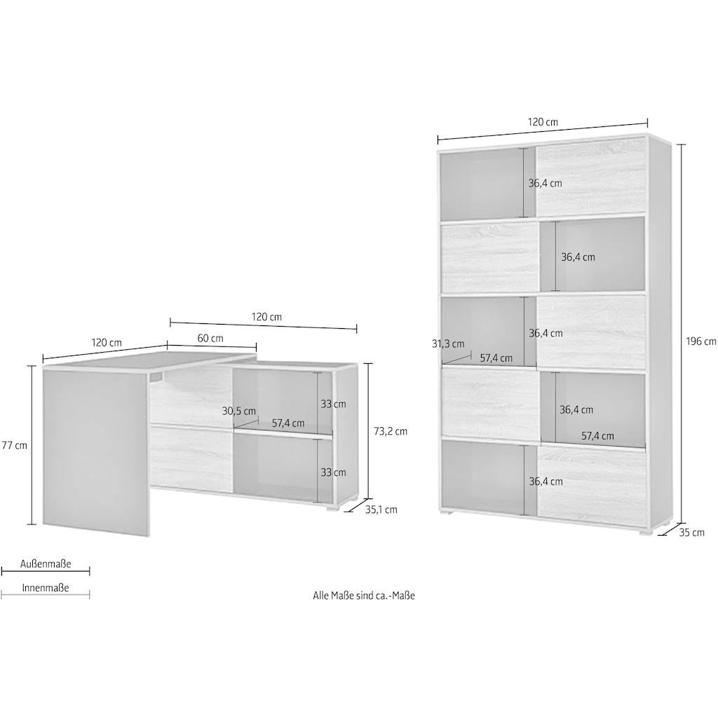 GERMANIA Büromöbel-Set »GW-Slide«, (Set, 2 St.)