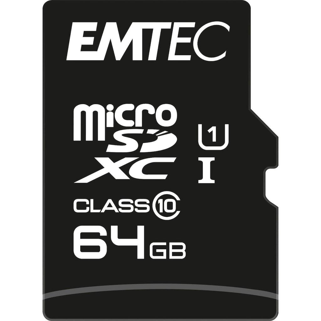 EMTEC Speicherkarte »microSD UHS-I U1 EliteGold«, ( Class 10 85 MB/s Lesegeschwindigkeit), inkl. SD-Karten-Adapter
