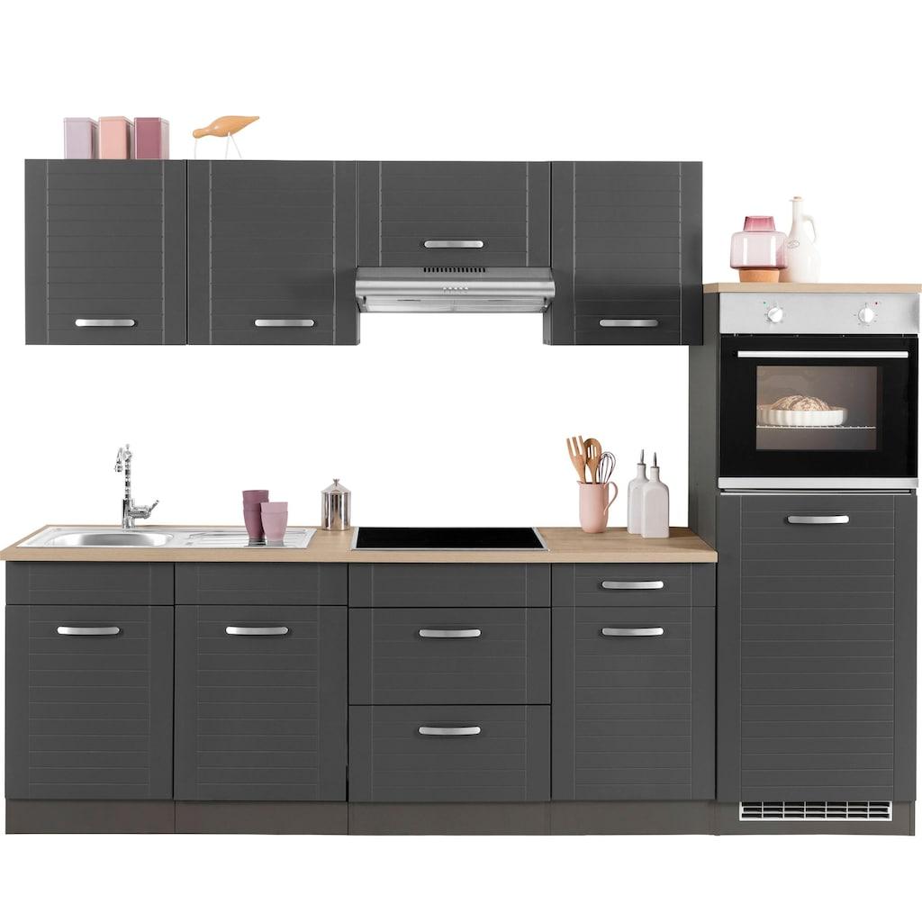 HELD MÖBEL Küchenzeile »Falun«, ohne E-Geräte, Breite 270 cm